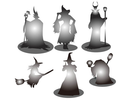 Witch's silhouette 4