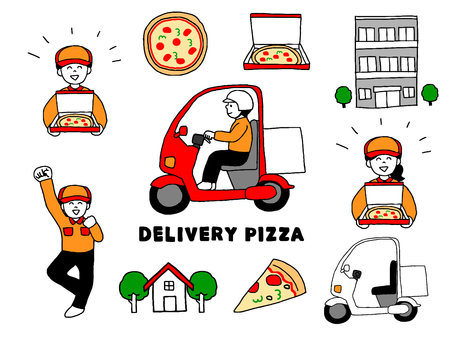 Delivery pizzeria set (simple)