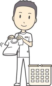 Male nurse short hair -214 - whole body