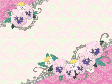 Spring decoration set Pansy · viola pink