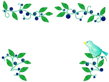 Birds and plants frame
