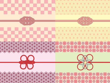 Decorative string _ Japanese pattern