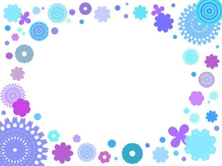 Flower pattern assorted blue