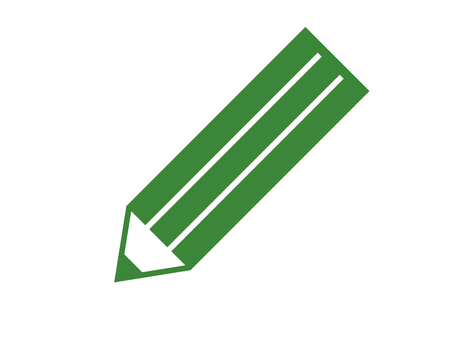 Pencil stationery writing instrument green