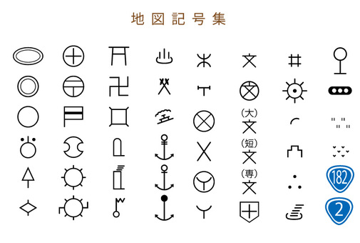 Map symbol collection