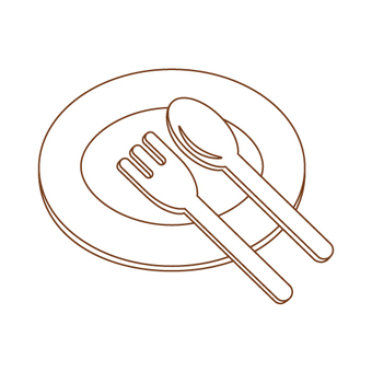 Dishes (dishes, forks, spoons, paper dishes))