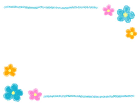Flower frame blue