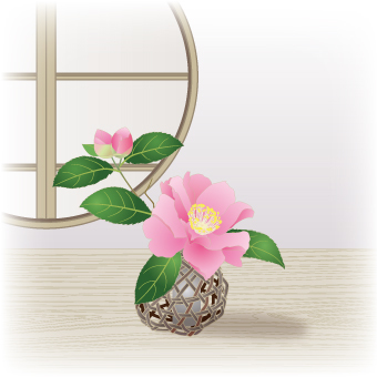 Flower Life _ Flower bamboo flower _ Pink