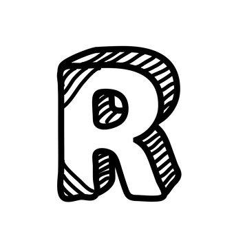 R (upper case)