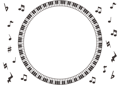 Frame which draws a circle with a piano