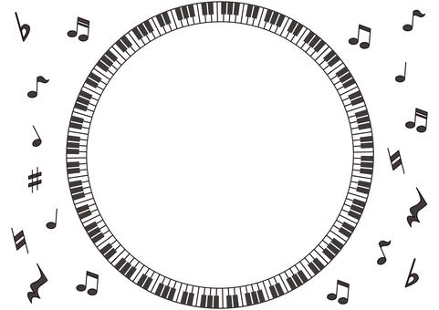 用钢琴画圈的框架