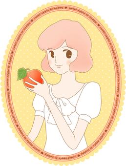 甜蜜的蘋果標籤的幸福