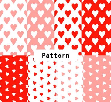 ハートパターン(手描き風)8色