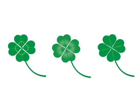 Four leaves of clover 3 species