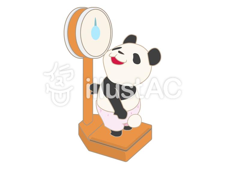 年中行事-身体測定-体重のイラスト
