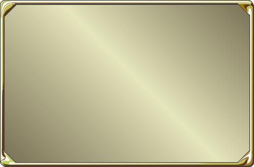 Gold frame plate decoration title