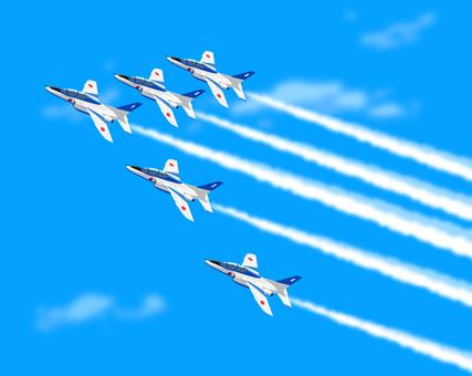 Air Show Airplane Illustration