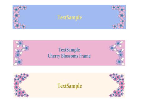 Cherry blossom square frame
