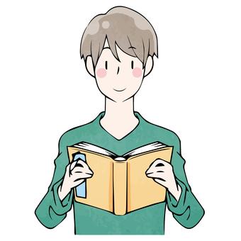 독서의 가을 젊은 남성