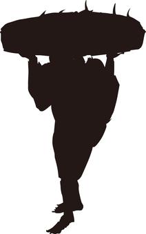 Ukiyo-e silhouette 184