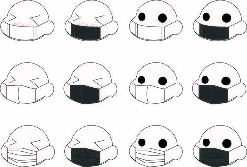 흑백 마스크
