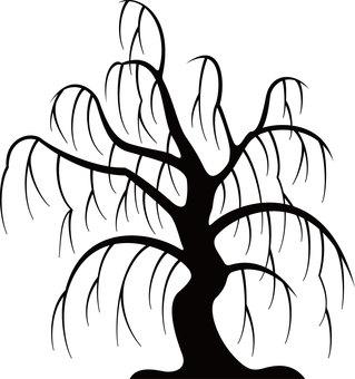Halloween silhouette eerie tree