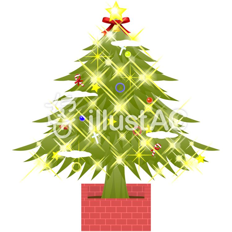 きらきらクリスマスツリーイラスト No 103117無料イラスト