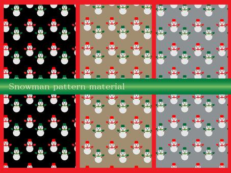 눈사람 패턴 소재 세트