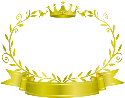 Crown and olive frame 4