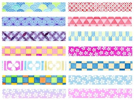 Japanese pattern masking tape material