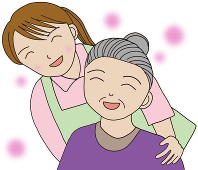 Helper and her grandma