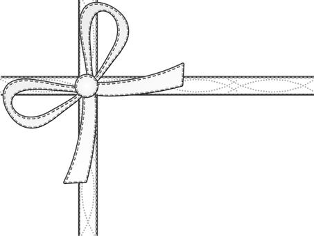 Simple gift ribbon white