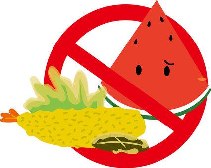 Watermelon and tempura