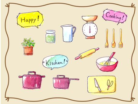 Kitchenware color set