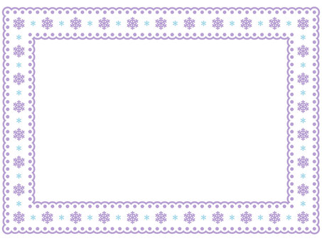 Snow crystal pattern Lace frame 1