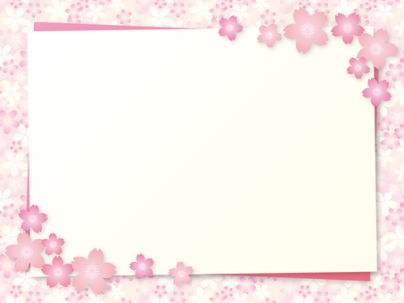 Cherry blossom motif background material 09