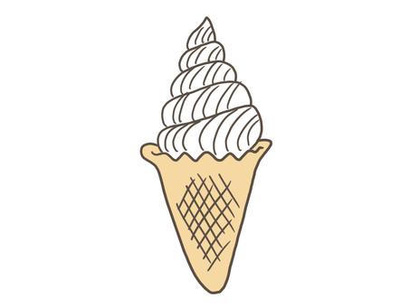 Vanilla soft serve