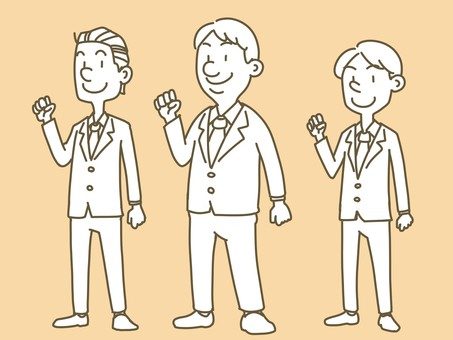 Guts pose businessman (monochrome)