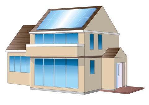 太陽光パネルの家