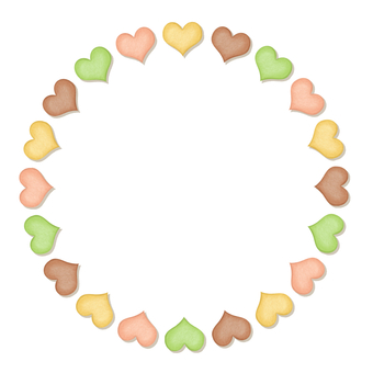 Heart cookie circle