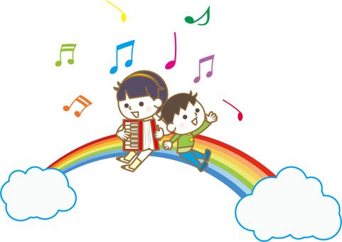 Children on the rainbow