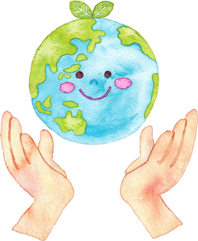 Hand that supports the earth