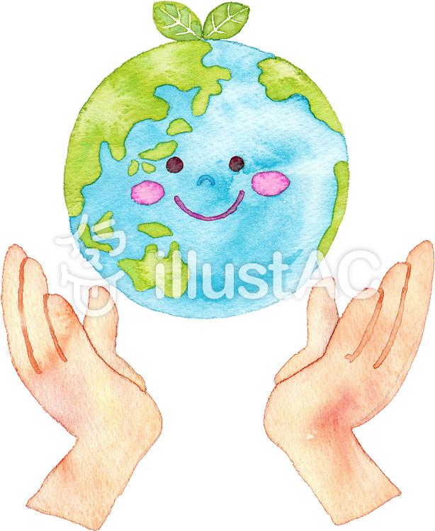 地球を支える手イラスト No 721446無料イラストならイラストac