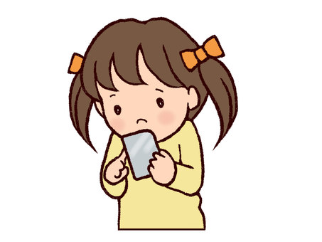 A smartphone and a girl