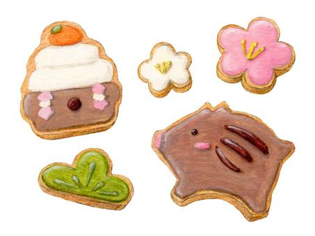 New Year's Icing Cookie 6-1