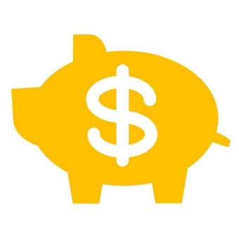 Pig piggy bank dollar mark