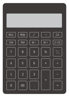 Illustration of calculator (black)