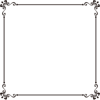 Decorative frame black and white