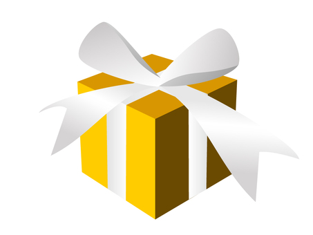 Present box yellow