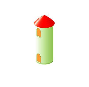 紅色屋頂筒倉